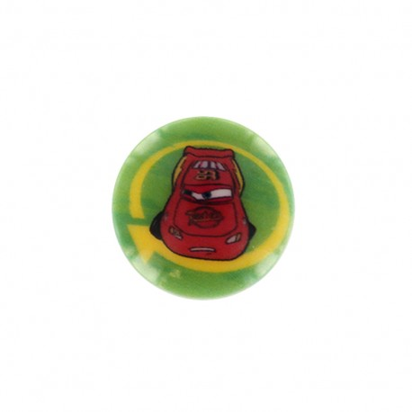 Cars Disney Button Flash McQueen - green