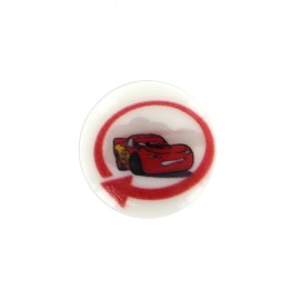 Cars Disney Button Flash McQueen - white