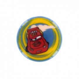 Cars Disney Button Flash McQueen - blue/ yellow