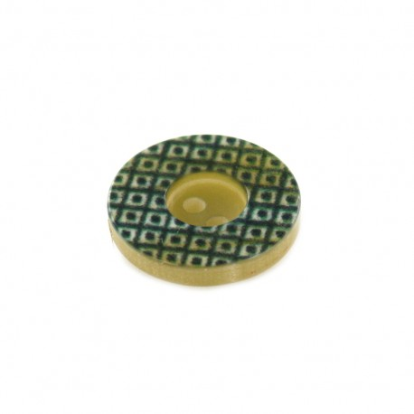 Polyester Button geometric vintage - dark green