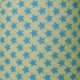 ♥ Only one piece 130 cm X 150 cm ♥ Stars Fabric - Pistachio / Azure