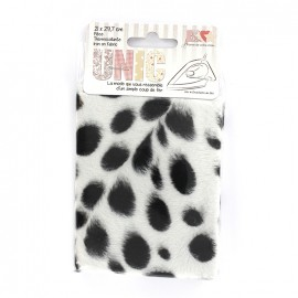 Iron on fur fabric - leopard