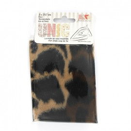 Iron on fur fabric - jaguar