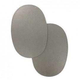 elbow patch faux leather- platinum