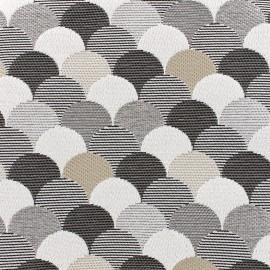 Tissu jacquard tissé Sirène - graphite x 10cm