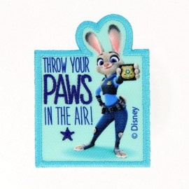 Embroidered iron on patch Zootopie Judy Hopps PAWS