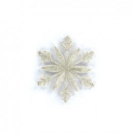 Thermocollant flocon de neige - argent