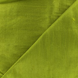 Wild Silk Fabric - avacado green x 10cm