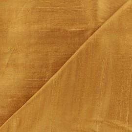Tissu soie sauvage - miel x 10cm