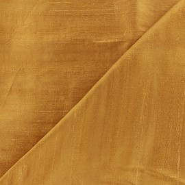 Wild Silk Fabric - honey x 10cm