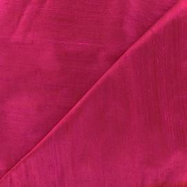 Tissu soie sauvage - fuchsia x 10cm