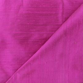 Tissu soie sauvage - violine x 10cm