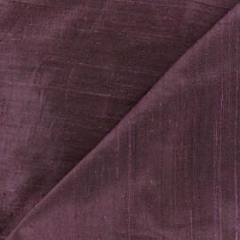 Tissu soie sauvage - violet x 10cm