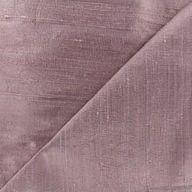 Tissu soie sauvage - gris rose x 10cm