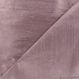 Wild Silk Fabric - grey pink x 10cm