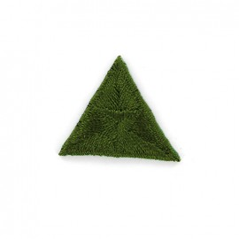 Stitch embroidery iron on patch  - green
