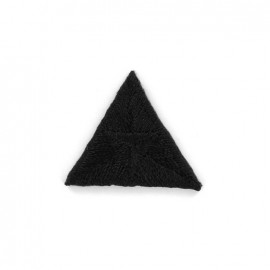 Stitch embroidery iron on patch  - black