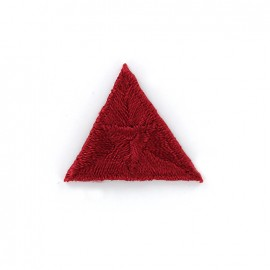 Thermocollant point de mouche brodé - rouge