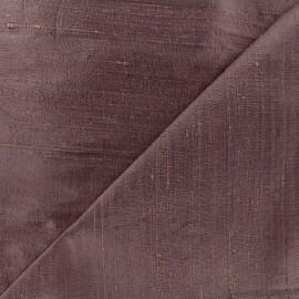 Tissu soie sauvage - rose violet x 10cm