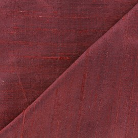 Wild Silk Fabric - red plum x 10cm