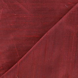 Wild Silk Fabric - burgundy x 10cm