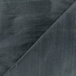 Wild Silk Fabric - prussian blue x 10cm