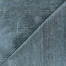 Tissu soie sauvage - bleu pétrole x 10cm