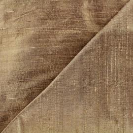 Tissu soie sauvage - bronze x 10cm