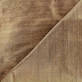 Wild Silk Fabric - bronze x 10cm