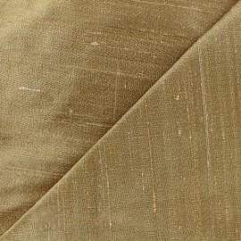 Wild Silk Fabric - light gold x 10cm
