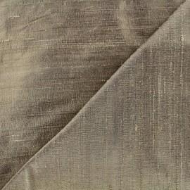 Tissu soie sauvage - châtain x 10cm