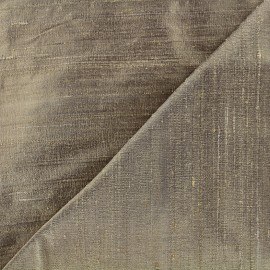 Wild Silk Fabric - chesnut x 10cm