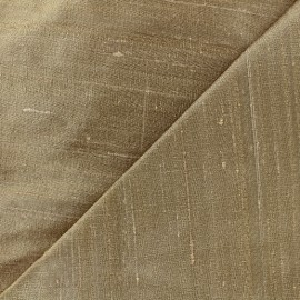 Wild Silk Fabric - old gold x 10cm