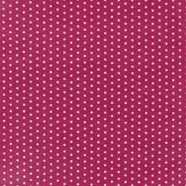 Tissu enduit coton Froufrou pois - camélia x 10cm