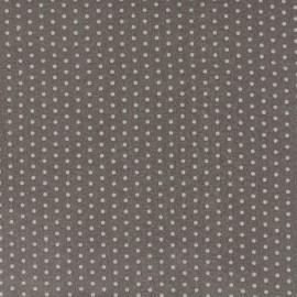 Tissu enduit coton Froufrou pois - taupe x 10cm