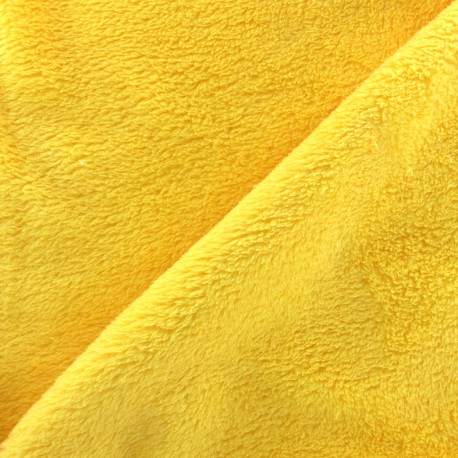 Plain Piloudou fabric - yellow x 10cm