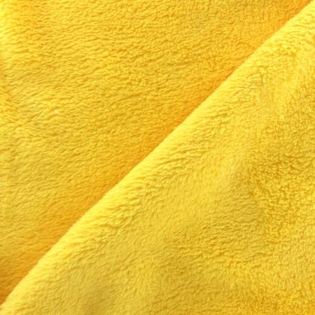 Tissu Piloudou uni - jaune x 10cm