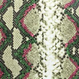 Simili cuir Python - vert x 10cm