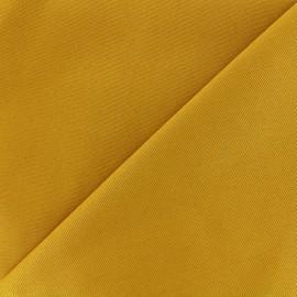 Tissu coton sergé - moutarde x 10cm