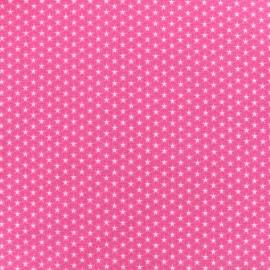 Poppy cotton fabric Graphics Stars - white/fuchsia x 10cm