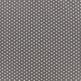 Poppy cotton fabric Graphics Stars - white/anthracite x 10cm