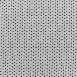 Poppy cotton fabric Graphics Stars - anthracite/light grey x 10cm
