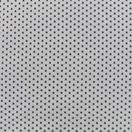 Tissu Poppy Graphics Stars - anthracite/gris clair x 10cm