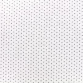 Poppy cotton fabric Graphics Stars - light grey/white x 10cm