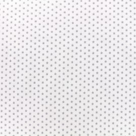 Tissu Poppy Graphics Stars - gris clair/blanc x 10cm