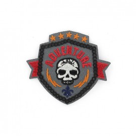 Iron on patch adventure blason - grey