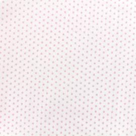 Tissu Poppy Graphics Stars - rose/blanc x 10cm