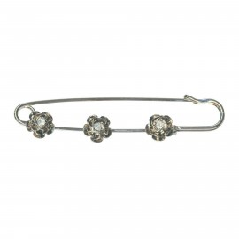 Kilt safety pin Tatiana - flower and strass