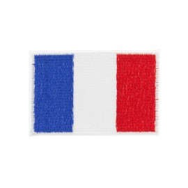 small France flag iron on patch - red, white and blue