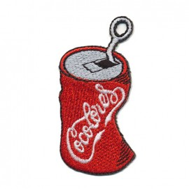 iron on patch soda can